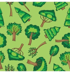 Forest trees seamless patten vector