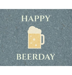 Happy beerday background poster and banner design vector