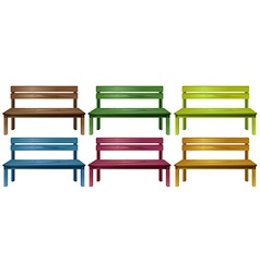 Set of benches vector
