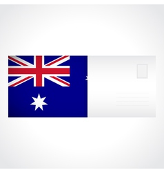 Envelope with australian flag card vector