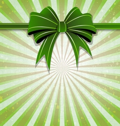 Green bow vector