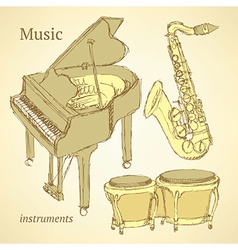 Sketch musical instrument vector