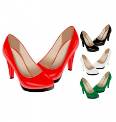 Female shoes vector