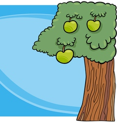 Apple tree cartoon vector