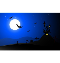 Horror halloween background- vector
