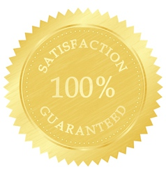 Gold guarantee stamp vector