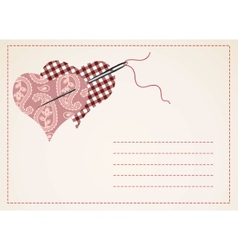 Valentine card with hearts vector