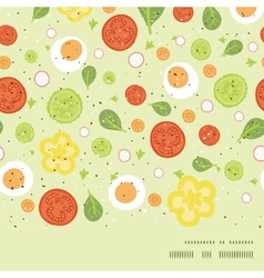 Fresh salad horizontal frame seamless vector