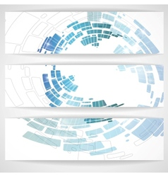 Abstract blue banner vector