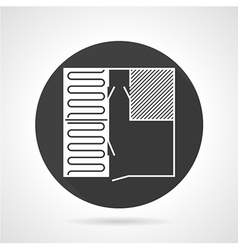 Repair plan black round icon vector