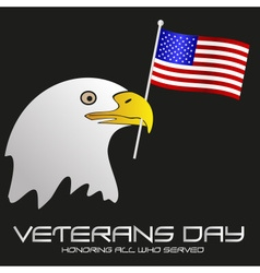 American veterans day celebration with head of vector