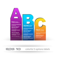 Abc bars vector