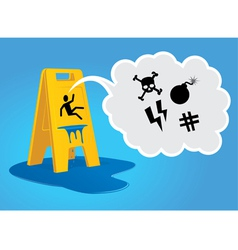 Caution - wet floor vector