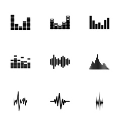Music soundwave icon set vector