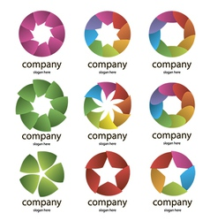 Abstract multicolored logo of the petals vector