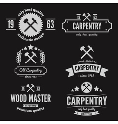 Set of logo label badge and logotype elements vector