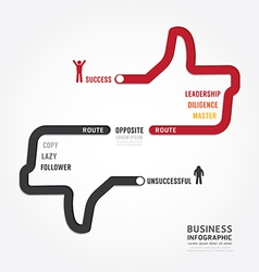 Infographic bussiness route to success vector
