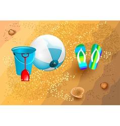 Beach supplies vector