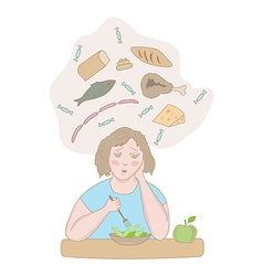 Stress and diet vector