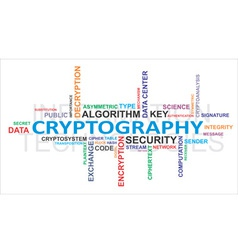 Word cloud cryptography vector