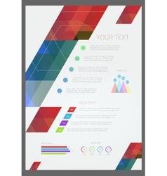 Geometric brochure template vector