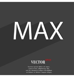 Maximum icon symbol flat modern web design with vector