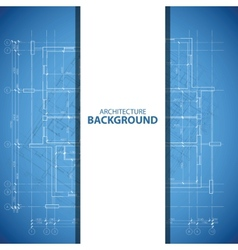 Blue and white architecture background vector