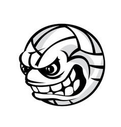 Volleyball cartoon ball vector