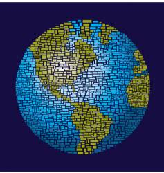 Globe of rectangles vector