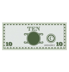 Ten money bill image vector
