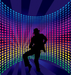 Nightclub dancer vector