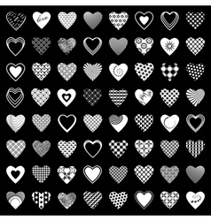 Heart icons set vector