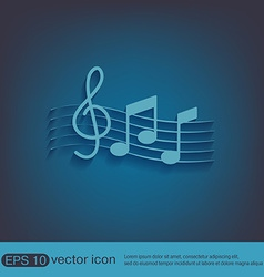 Musical notes and treble clef vector