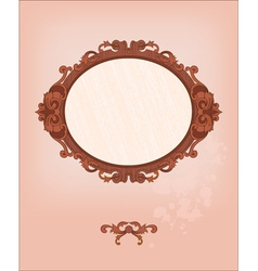 Romantic frame vector