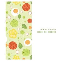 Fresh salad vertical frame seamless pattern vector