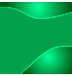 Green wave eco abstract two glossy waves natural vector