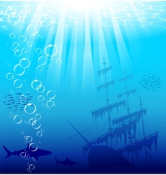 Underwater world vector