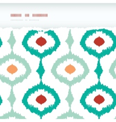 Colorful chain ikat frame horizontal torn seamless vector