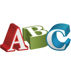 Abc font alphabet teaching letters vector
