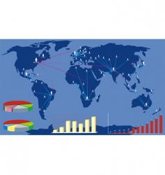 Global business map vector