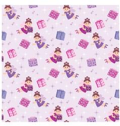 Seamless fairy pattern vector