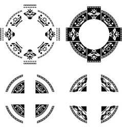Set of fantasy rings vector