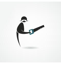 Saw icon vector