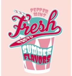 Peppermint milkshake cup vector