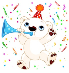 Polar bear party vector