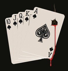 Royal flush bleeding vector