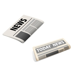 Two newspaper icons vector