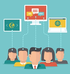 User generated content concept in flat style vector