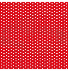 Red vintage seamless pattern from white hearts vector