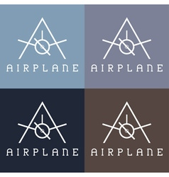 Airplane monogram vector